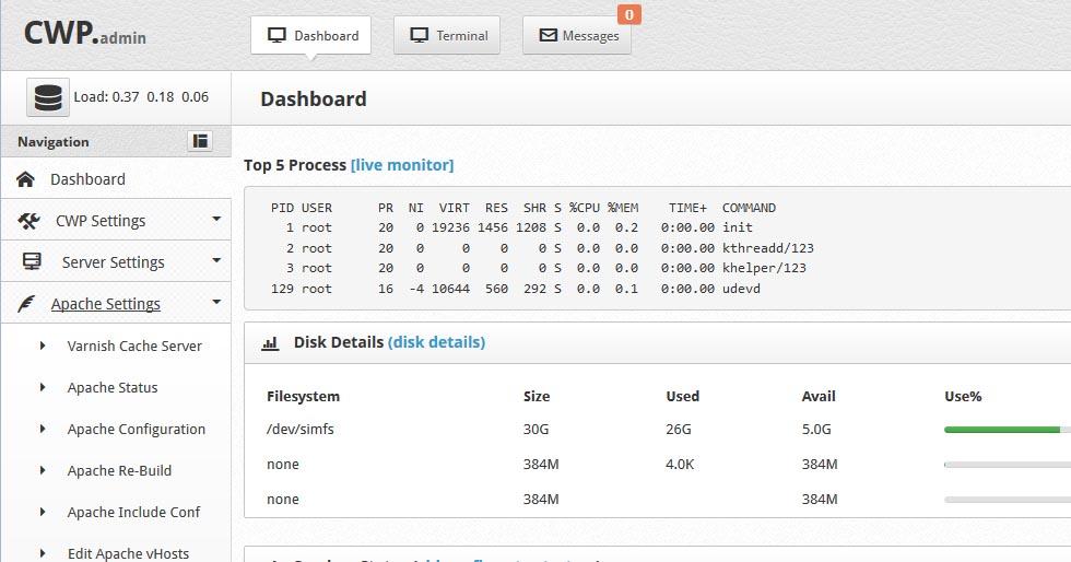 CentOS Web Panel   Free Linux Web Hosting Control Panel